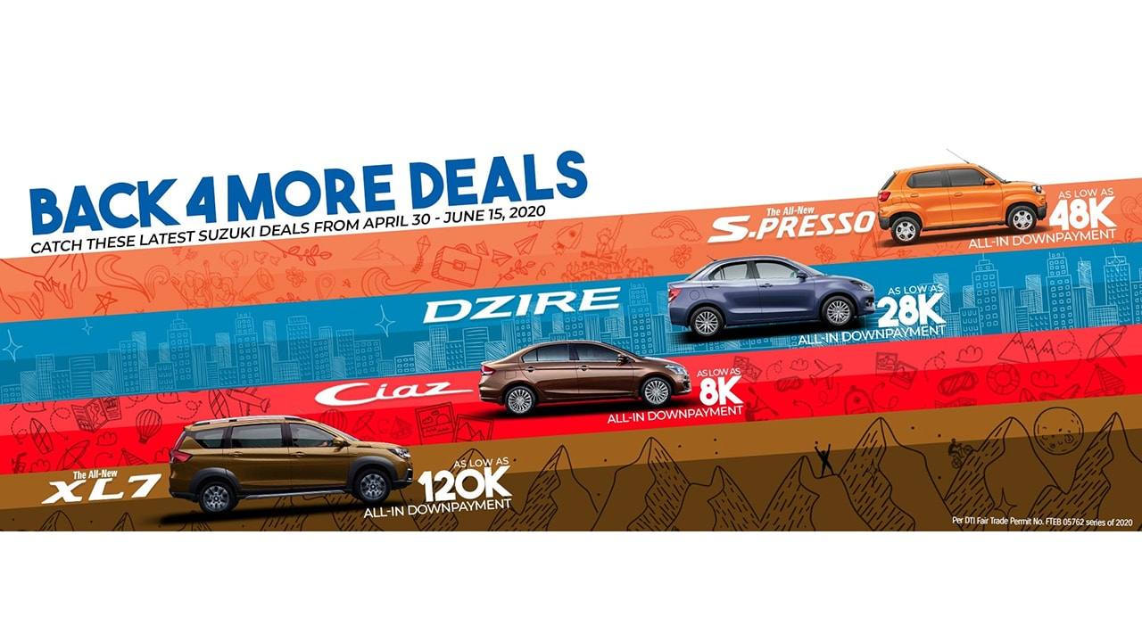 Suzuki Philippines is back '4' More Deals!