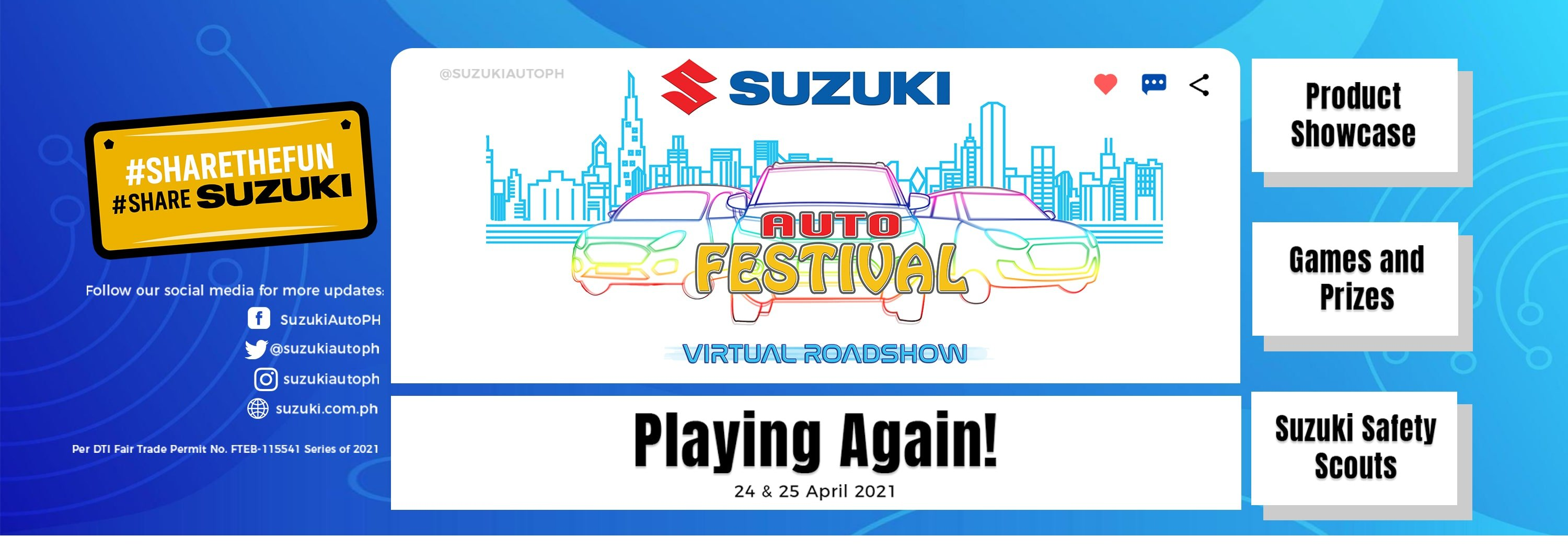 All Systems Go for Suzuki Auto Festival Virtual Roadshow
