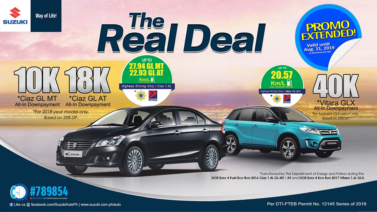 Suzuki Real Deal Promo - August 2019