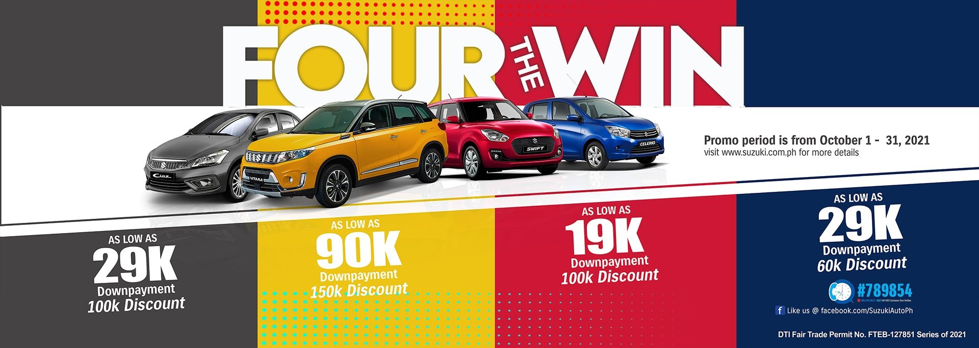 FOUR THE WIN OCTOBER PROMO