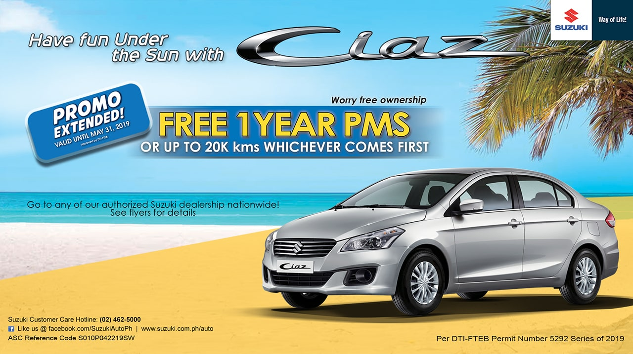 Extended! Ciaz Free 1 Year PMS Promo