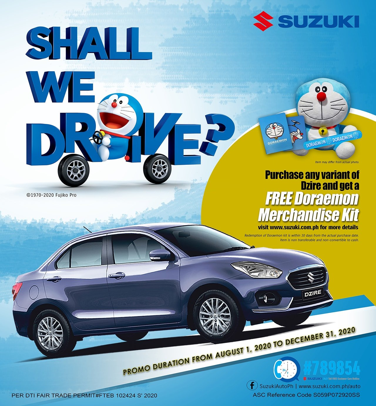 A Doraemon Surprise Plus More Exciting Deals and Promo with Suzuki Philippines