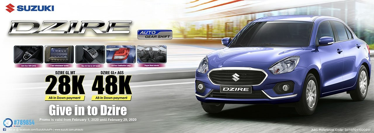 Give in to Dzire Promo
