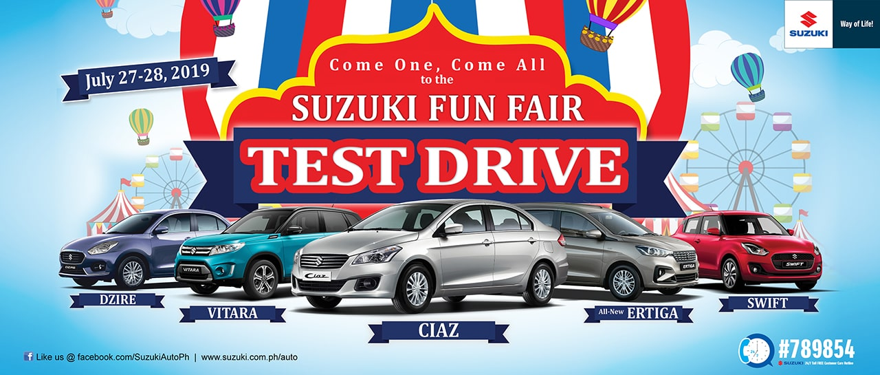 Suzuki Philippines buckles up for another two-day Fun Fair Test Drive
