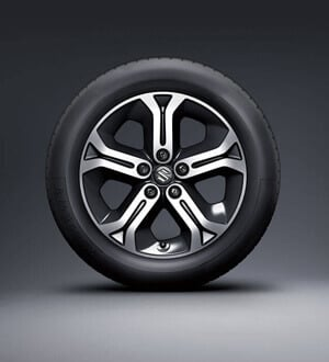 Suzuki Vitara 17inch polished alloy wheels (optional with GLX)