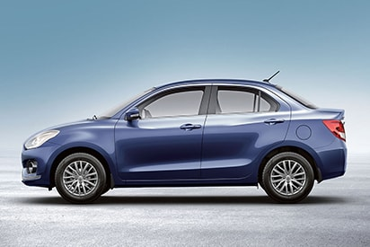 Suzuki Dzire roofline, cabin and surrounding area