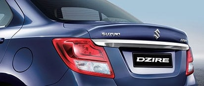 Suzuki Dzire Chrome Moulding on rear