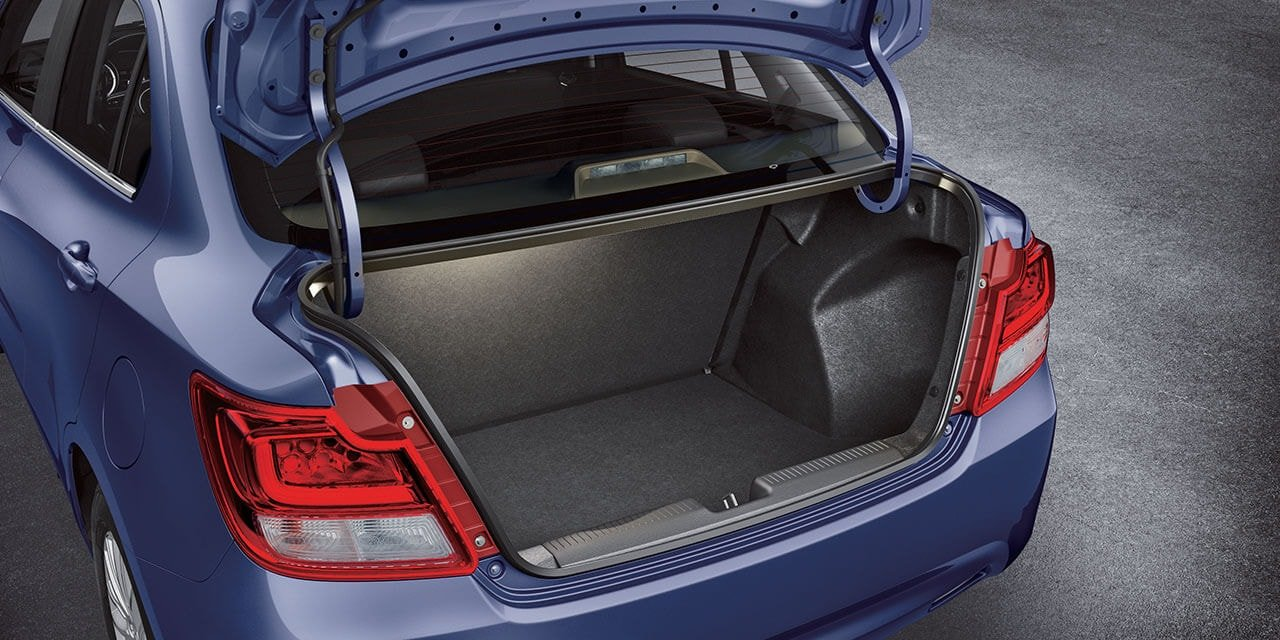 Suzuki Dzire Ample Boot Space