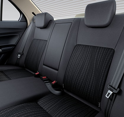 Suzuki Dzire Rear Seats