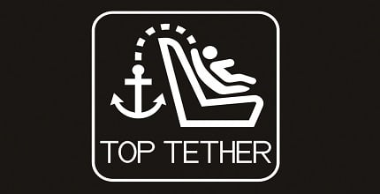 Child seat anchorage top tether