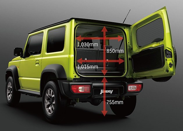 Suzuki Jimny Back door opening