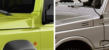 Suzuki Jimny Horizontal slit-like design