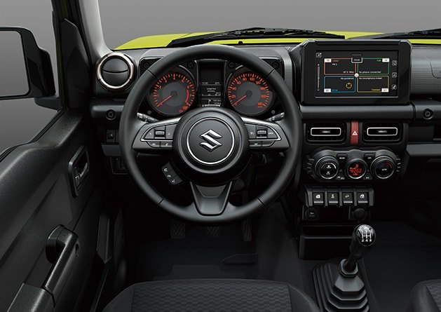 Suzuki Jimny Leather covered steering wheel