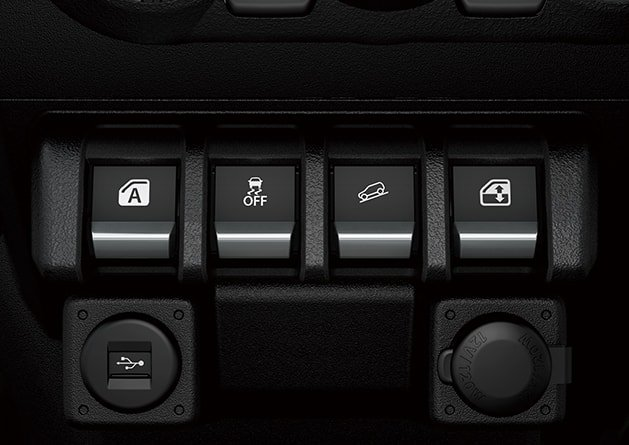 Suzuki Jimny Intuitive design controls