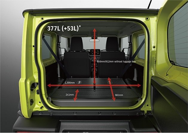 Suzuki Jimny Flexible luggage space