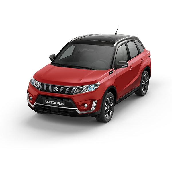 Suzuki Vitara Bright Red + Cosmic Black Pearl Metallic (A9H)