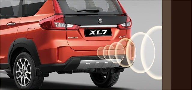 Suzuki All-New XL7 Reverse parking sensors and rear view camera